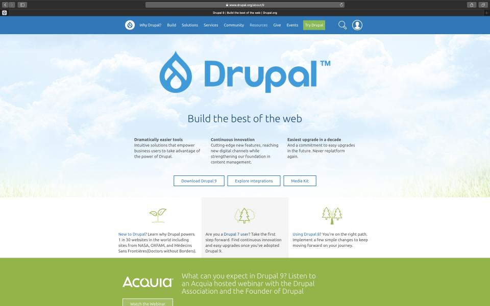 Screenshot Drupal