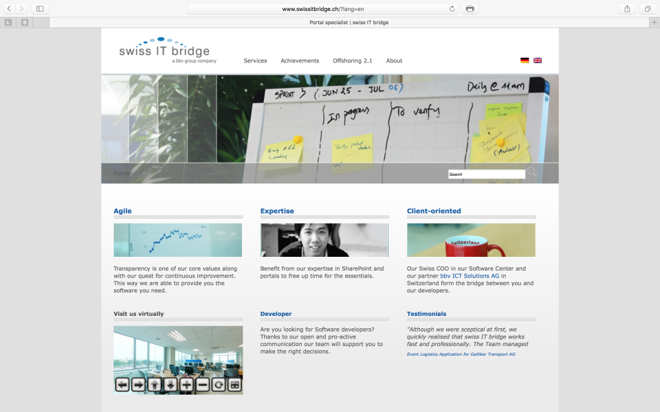 Screenshot swissitbridge.ch