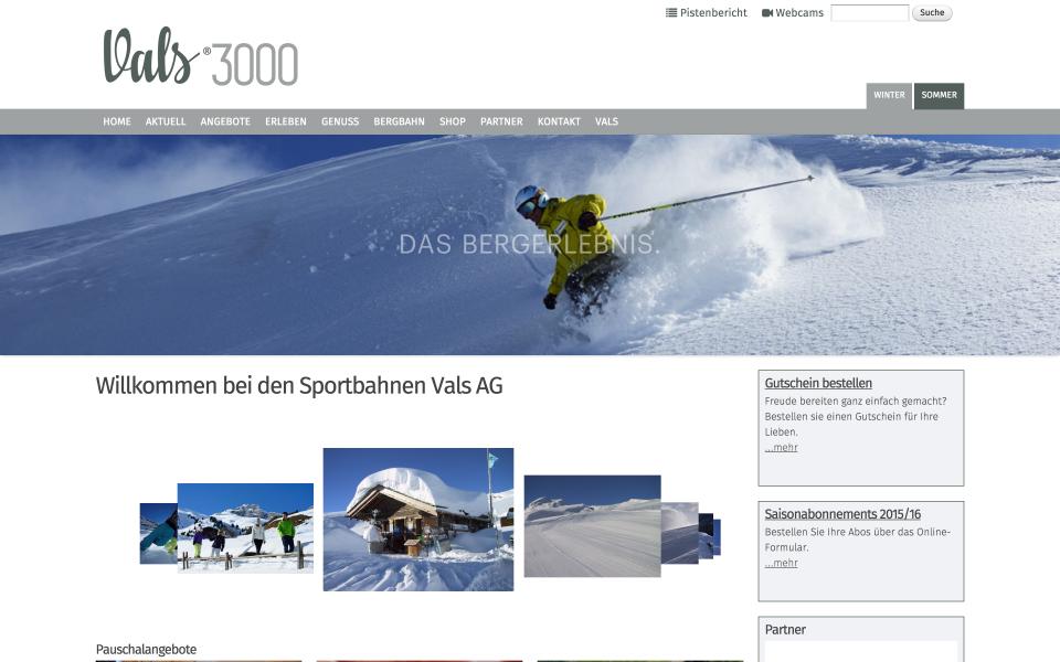 Screenshot vals3000.ch