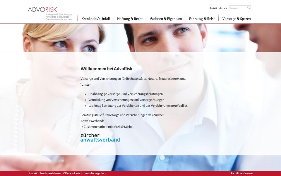 Screenshot advorisk.ch