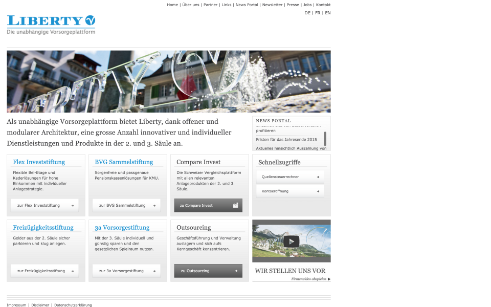 Screenshot liberty-vorsorge.ch