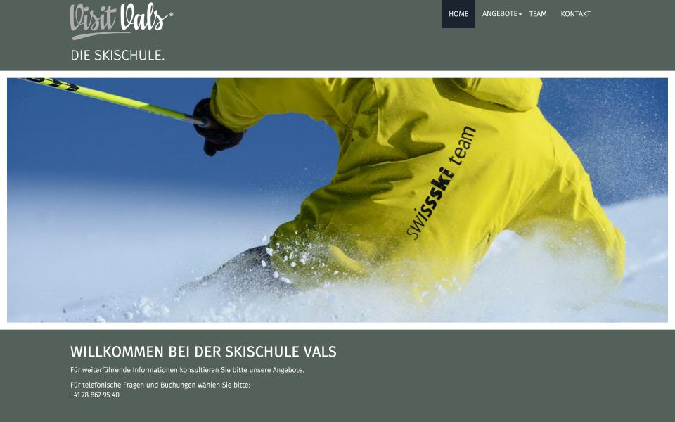 Screenshot die-skischule.ch