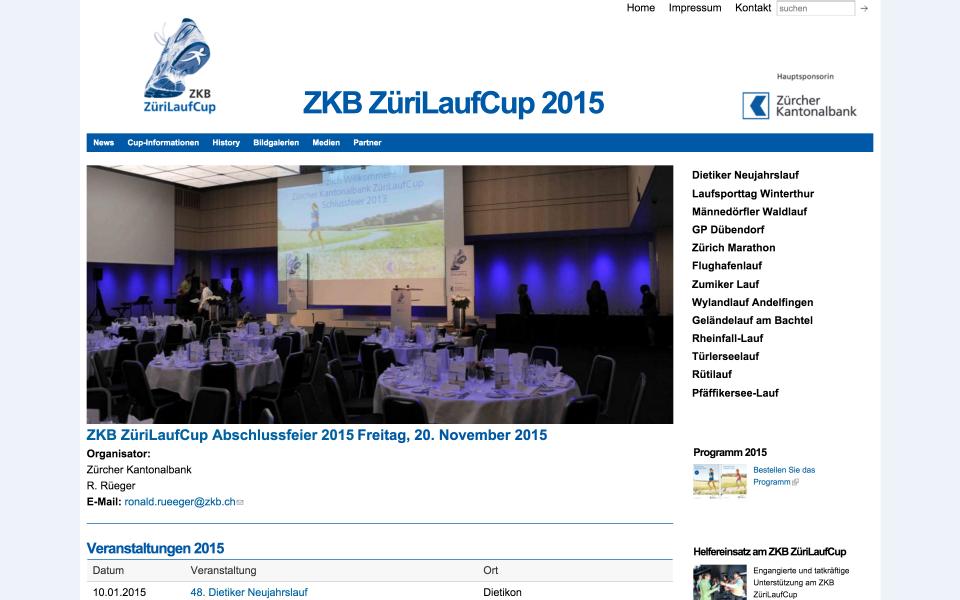 Screenshot zuerilaufcup.ch