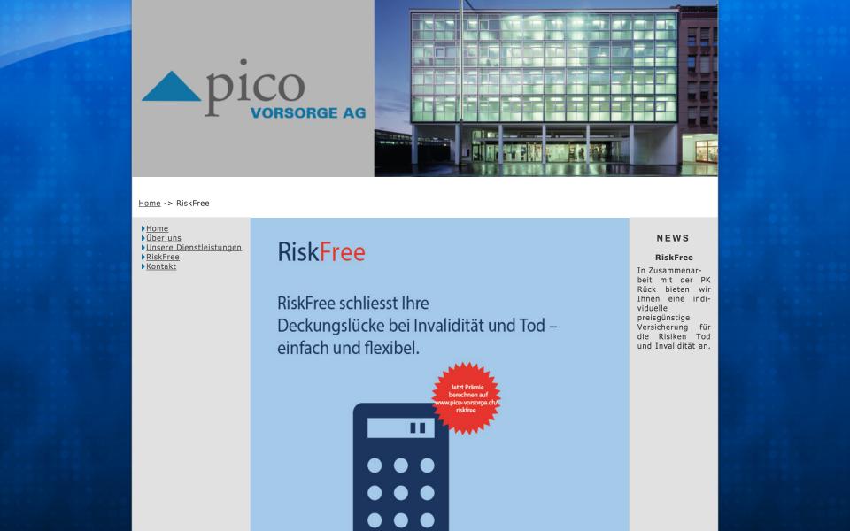 Screenshot Pico Vorsorge AG