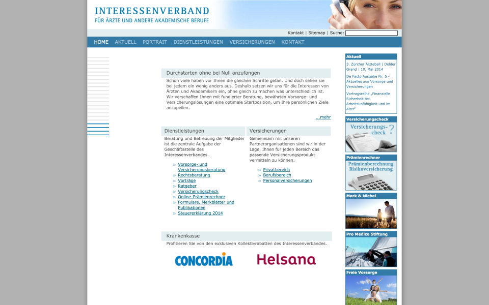 Screenshot interessenverband.ch