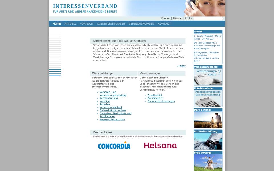 Screenshot interessenverband.ch