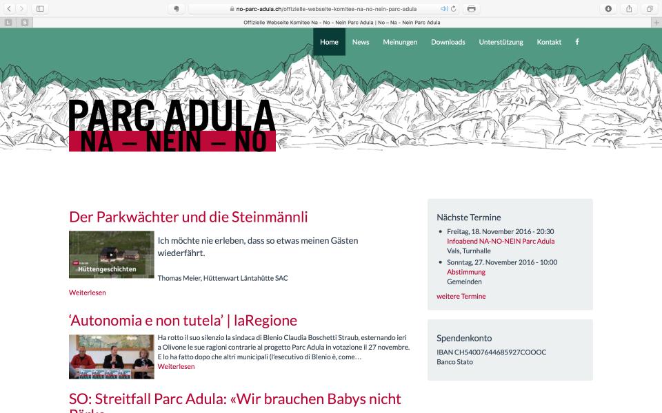 Screenshot no-parc-adula.ch